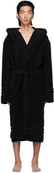 商品Black Terrycloth Resorts Robe图片