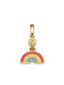 商品14K Goldplated Sterling Silver & Enamel Rainbow Charm图片