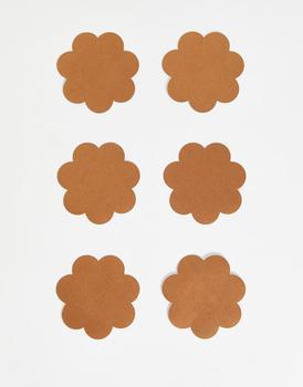 商品Fashionkilla 3 pack nipple covers in tan图片