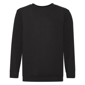 商品Fruit Of The Loom Childrens Big Boys Set in Sleeve Sweatshirt (Black)图片