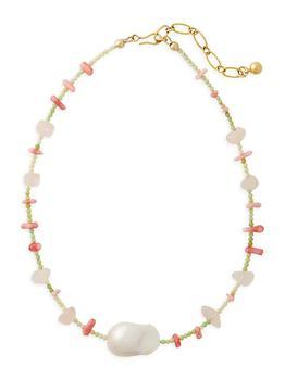 商品Rising Sun 24K Goldplated Multi-Stone Beaded Necklace图片