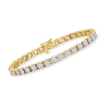 商品Ross-Simons Diamond Tennis Bracelet in 18kt Yellow Gold Over Sterling Silver图片