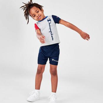 商品Boys' Toddler Champion Colorblock Vertical Script T-Shirt and Shorts Set图片
