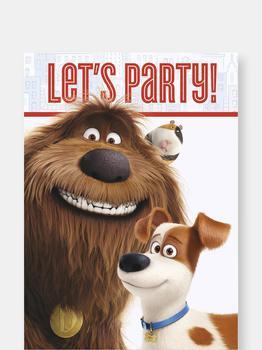 商品The Secret Life of Pets Party Invitations 8 per Pack]图片
