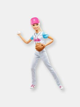 商品Barbie Ultra-Flexible Baseball Doll with Mitt图片
