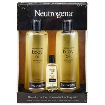 商品Neutrogena Body Oil Moisturizer (16 fl. oz., 2 pk. + 1.0 fl. oz., 1 pk.)图片