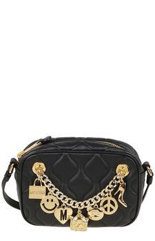 商品Moschino Charm Chain-Detailed Shoulder Bag - Only One Size / Black图片