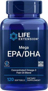 商品Life Extension Mega EPA/DHA (120 Softgels)图片
