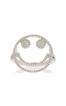 商品Rosa de la Cruz - Women's Smile 18k White Gold Diamond Ring  - White - Moda Operandi图片