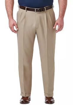 商品Big & Tall Premium Comfort 4-Way Stretch Classic Fit Pleat Dress Pants图片