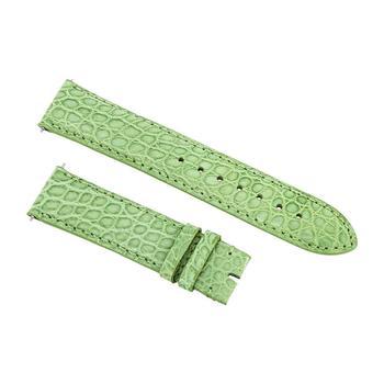商品Hadley Roma Matte Lime Green Alligator Leather Strap图片