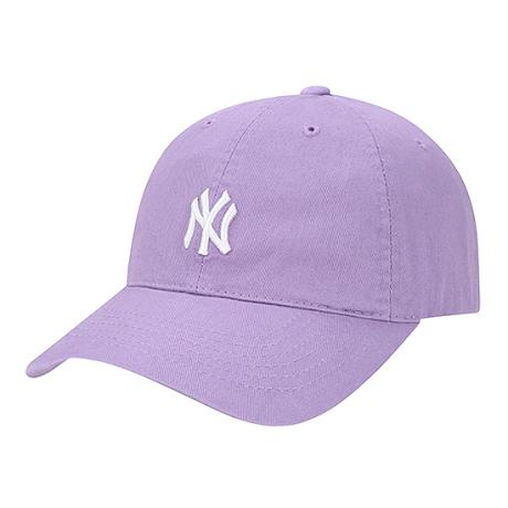 商品【韩国直邮|包邮包税】MLB NY小标鸭舌棒球帽 紫色白标图片