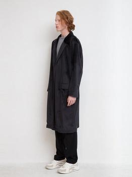 商品[Unisex] Velvet Robe Coat - Black图片