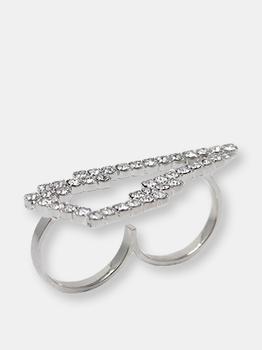 商品Crystal Lightning Bolt Ring图片