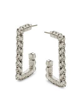商品Archie Silverplated & Swarovski Crystal Hoop Earrings图片