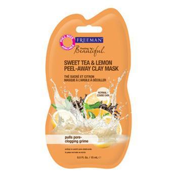 商品Freeman Feel Beautiful Sweet Tea And Lemon Peel-Away Clay Mask, Travel Size, 0.5 oz图片