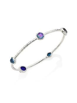 商品Rock Candy Sterling Silver & Multi-Stone 5-Station Bangle Bracelet图片