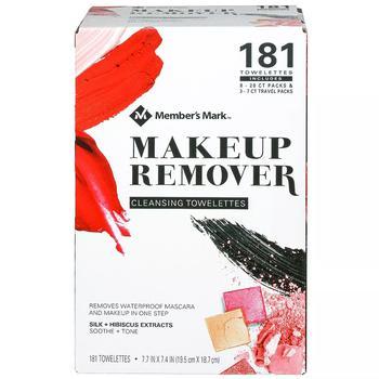 商品Member's Mark Makeup Remover Cleansing Towelettes (181 ct.)图片