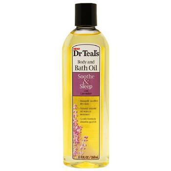 商品Dr. Teals Sooth And Sleep Body And Bath Oil With Lavender - 8.8 Oz图片