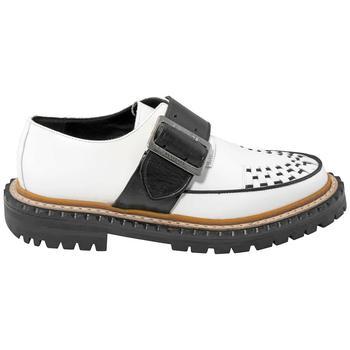 商品Burberry Mason Buckle Strap Leather Platform Creepers, Brand Size 39W (US Size 9W)图片