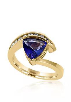 商品Tanzanite and Diamond Ring in 14K Yellow Gold图片