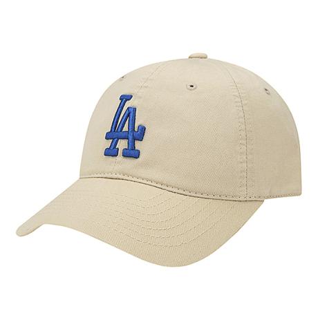 商品【韩国直邮|包邮包税】MLB LA 蓝标 大标棒球帽 米色图片