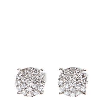 商品New J Collection Earring 38 Rddi 0.48 Ct 18kw 2.72 Gm 18kt White Gold Silver图片