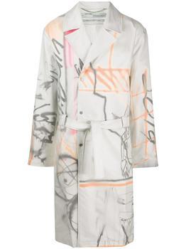 商品Off-White White / Multi Futura Trench Coat, Brand Size Small图片