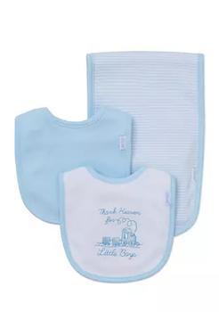 商品3-Piece Thank Heaven Bibs and Burp Cloth Set图片