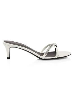 商品Miria Swarovski Crystal Leather Sandals图片