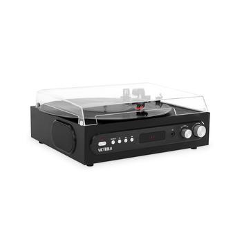 商品All-in-1 Bluetooth Record Player with Built in Speakers and 3-Speed Turntable图片