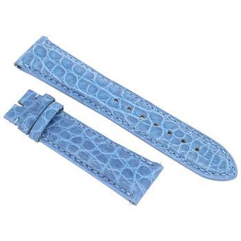 商品Hadley Roma 21 MM Sea Blue Alligator Leather Strap图片