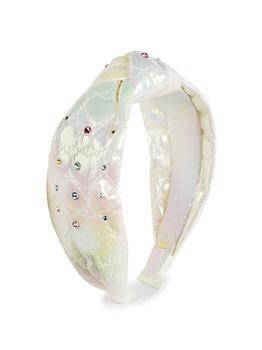 商品Girl's Iridescent Heart-Quilt Swarvoski Crystal Headband图片