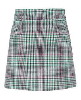 商品Tarten Check Wool-Blend Mini Skirt图片