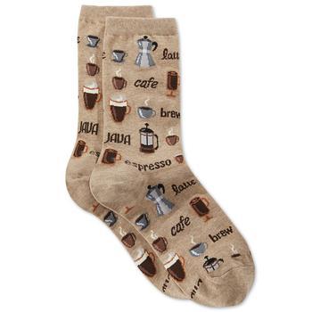 商品女士咖啡图案袜子图片