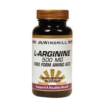 商品Windmill L-Arginine 500 Mg Capsules, Free Form Amino Acid - 50 Ea图片