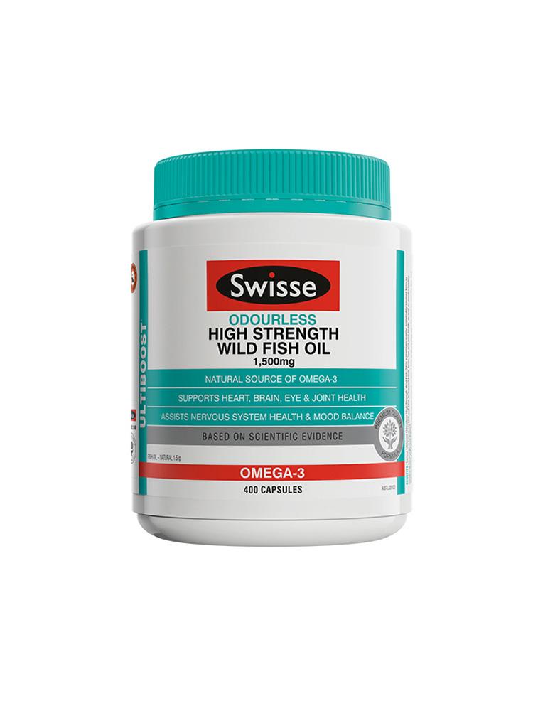 商品澳洲Swisse深海鱼油软胶囊无腥味1500mg400粒omega3中老年成人图片