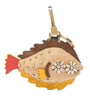 商品Burberry Natural Multi Sole Fish Crystal Studded Key/Bag Charm图片