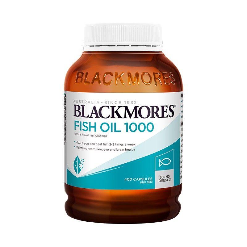 商品BLACKMORES澳佳宝原味鱼油软胶囊400粒图片