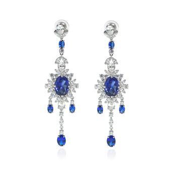 商品Swarovski Palace Rhodium And Crystal Earrings 5498817图片