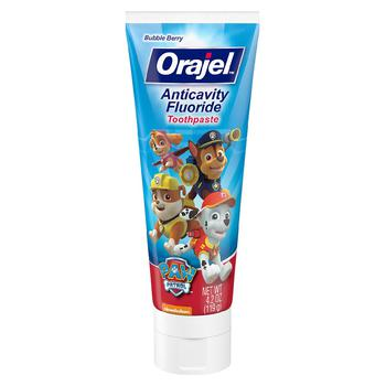 商品Paw Patrol Anticavity Fluoride Toothpaste Bubble Berry图片