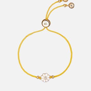 商品Ted Baker Women's Darsay: Daisy Friendship Bracelet - Gold/Whiite图片
