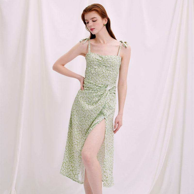 商品Lorraine连衣裙 - 薄荷绿印花  | Lorraine Dress - Mint Floral图片