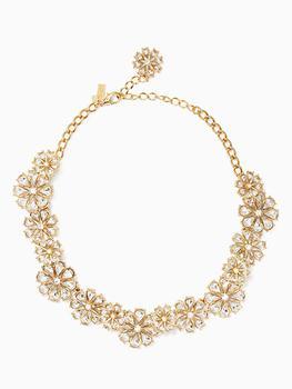 商品clear as crystal short floral necklace图片