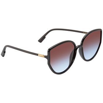 商品Dior Blue Red Blue Cat Eye Ladies Sunglasses SOSTELLAIRE4 0807 58图片
