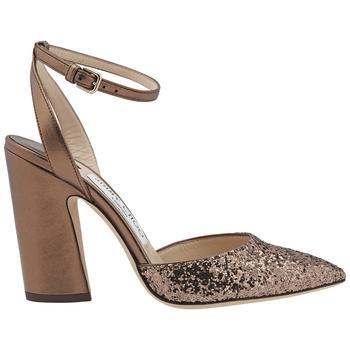 商品Jimmy Choo Micky 100 Pointed-toe Glitter Sandals, Brand Size 36 (US Size 6)图片