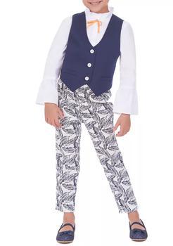 商品Girls 4-6x Tropical Print Vest Set图片