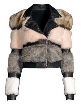 商品Bristol Faux Fur & Leather Moto Jacket图片