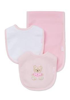 商品3-Piece Sweet Bear Bib and Burp Cloth Set图片