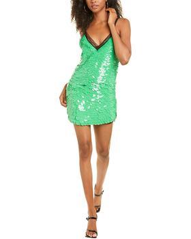商品DUNDAS Sequin Silk Slip Dress图片